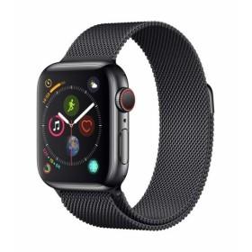 Apple Watch Series 4(GPS + Cellularモデル)- 40mmスペースブラックステンレススチールケースとスペースブラックミラ