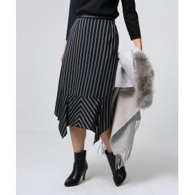 UNTITLED essential clue(アンタイトル エッセンシャルクルー) ヌーベルストライプ 切り替えスカート
