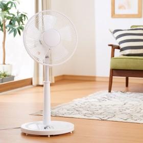 リビングファン メカ式 30cm 5枚羽根 首振り 風量3段階 タイマー 高さ調節 フラットガード 静音 扇風機