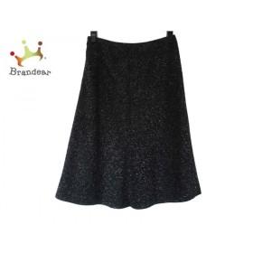 ニジュウサンク 23区 スカート サイズ36 S レディース 美品 黒×アイボリー×グレー   スペシャル特価 20190911