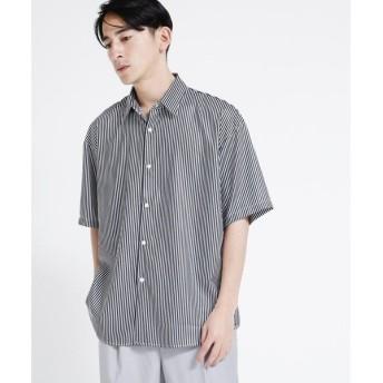 tk.TAKEO KIKUCHI / ティーケー タケオキクチ ストライプビッグシルエットシャツ