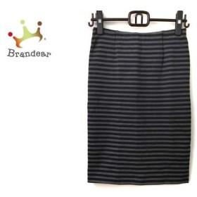 ドゥーズィエム DEUXIEME CLASSE スカート サイズ36 S レディース 美品 グレー×黒 ボーダー   スペシャル特価 20190915