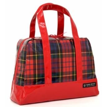 セミボストン(プールバッグ) タータンチェック・レッド N2914600 ビニールバッグ/スイミングバッグ/アウトドア/子供
