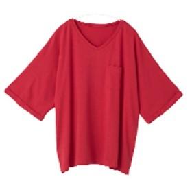 [マルイ] 【Vネックタイプ】ハッピーモイスチャーカットソーVネックゆったり半袖Tシャツ/ハッピーマリリン(大きいサイズ)(AHAPPYMARILYN)