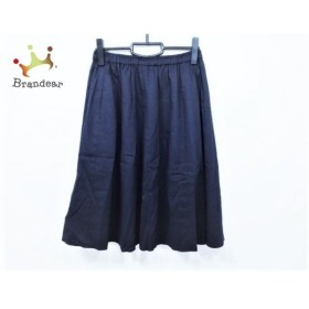 ジユウク 自由区/jiyuku ロングスカート サイズ38 M レディース 美品 黒 ウエストゴム   スペシャル特価 20190829