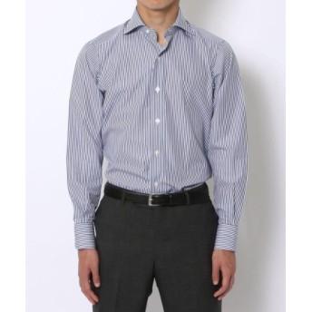 (TOMORROWLAND/トゥモローランド)140/2コットンブロード ワイドカラー ドレスシャツ NEW WIDE-5/メンズ 66ブルー系2 送料無料