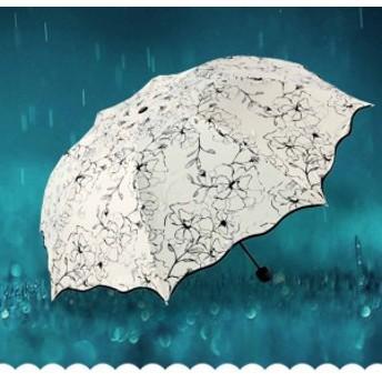 日傘 折りたたみ傘 レディース おしゃれ 軽量 晴雨兼用 自動開閉 折りたたみ傘 ボーダー柄 UVカット ワンタッチ 遮光 遮熱 3段折りたたみ