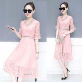 新しいメッシュドレス夏のドレスファッション気質の女性の襟スリムスリムロングパラグラフの妖精のスカート