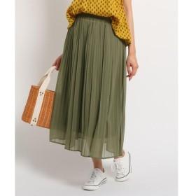 Dessin / デッサン 【洗える】【ウエストゴム】楊柳シフォンプリーツスカート