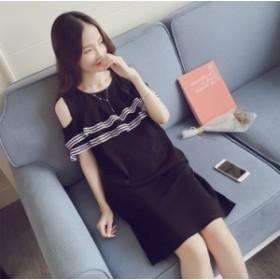 新しいフリルの単語の肩のストラップレスの女の子のドレス女性の夏の気質韓國のストレート小さな黒いドレス