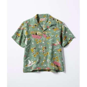 Kaluluwa アロハシャツ キッズ グリーン