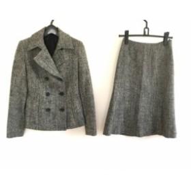 アナイ ANAYI スカートスーツ サイズ36 S レディース 美品 黒×アイボリー×マルチ【中古】