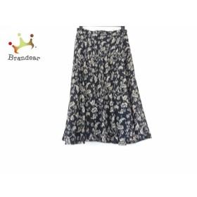 スキャパ Scapa ロングスカート サイズ40 XL レディース 美品 黒×ベージュ 花柄   スペシャル特価 20190904