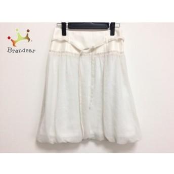 アプワイザーリッシェ Apuweiser-riche スカート サイズ2 M レディース 白×アイボリー スペシャル特価 20190911