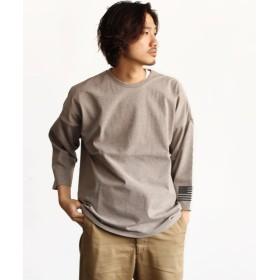 アヴィレックス ビッグロゴ 7分袖 Tシャツ/BIG LOGO 3/4 SLEEVE T SHIRT AVIREX NYC メンズ GREY F 【AVIREX】