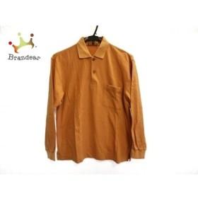 ランセル LANCEL 長袖ポロシャツ サイズM メンズ オレンジ×ダークブラウン   スペシャル特価 20190915