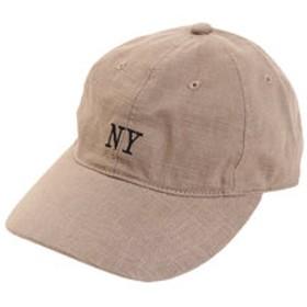 【SALE/送料無料】【Super Sports XEBIO & mall店:帽子】リネン刺繍 NY キャップ 897PA9ST1673 BRN