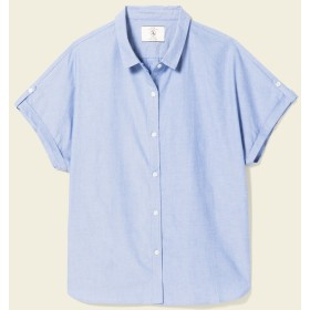 AIGLE レディース オーガニックコットンリラックスシルエットブラウス BLUE (072) シャツ・ポロシャツ