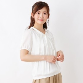 [マルイ] シルキー切替ボウタイシャツ/スープ(SOUP)