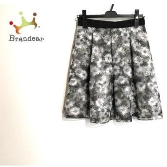 アプワイザーリッシェ スカート サイズ2 M レディース 美品 黒×白×マルチ 花柄 スペシャル特価 20190911