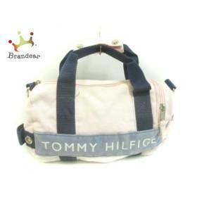 トミーヒルフィガー TOMMY HILFIGER ハンドバッグ ピンク×ネイビー ミニサイズ キャンバス   スペシャル特価 20190909