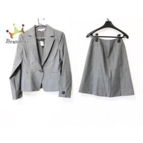 ナチュラルビューティー ベーシック スカートスーツ サイズS レディース 美品 グレー 3点セット 新着 20190530