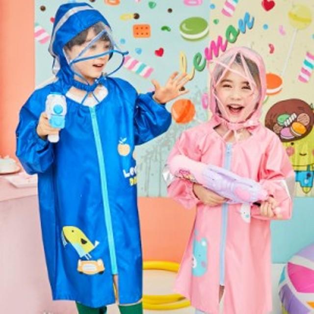 子供用レインコート 雨具 キッズレインコート 通学に最適マントタイプ防水3~12歳 合羽
