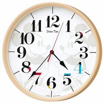 セイコー クロック 掛け時計 ミッキーマウス ミニーマウス 電波 アナログ ミッキー&フレンズ Disney Time ディズニータイム 薄茶 FW5
