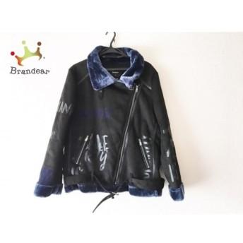デシグアル Desigual ブルゾン サイズ46 XL レディース 黒×ネイビー フェイクムートン/冬物 新着 20190530