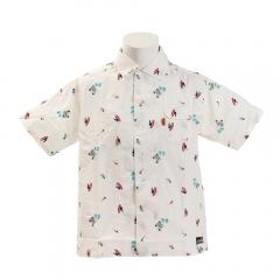 クリフメイヤー(KRIFF MAYER) 総刺繍オープンカラーシャツ 1917400-1-WHT(Men's)