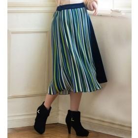 [マルイ] 【WEB限定】上品ベロア×マルチストライププリーツラップスカート/ジーラ バイ リュリュ(ファッション)(GeeRA by RyuRyu)