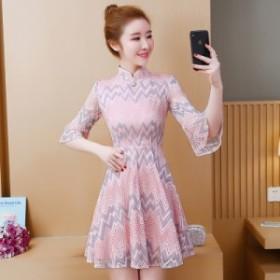 春の學生短い現代的な若い女の子のセクシーなドレスチャイナドレスの潮の中華風バージョン