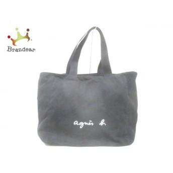 アニエスベー agnes b トートバッグ 黒×白 キャンバス スペシャル特価 20190815