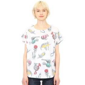 [マルイ]【セール】【レディース】ラウンドネックボックスTシャツ/ボンボンアニマルズ/グラニフ(graniph)