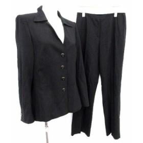 【中古】エスカーダ ESCADA スーツ セットアップ ジャケット パンツ 36 黒  /☆G レディース