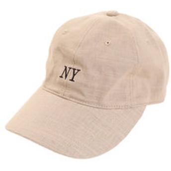 【Super Sports XEBIO & mall店:帽子】リネン刺繍 NY キャップ 897PA9ST1673 BEG