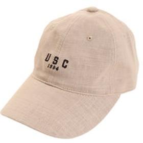 【Super Sports XEBIO & mall店:帽子】リネン刺繍 USC キャップ 897PA9ST1672 BEG