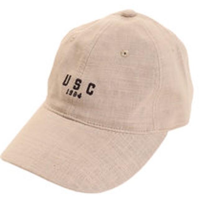 【SALE/送料無料】【Super Sports XEBIO & mall店:帽子】リネン刺繍 USC キャップ 897PA9ST1672 BEG