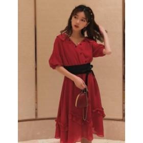 大人コーデ 妖精 ドレス ワンピース レトロスカート 夏 モデル