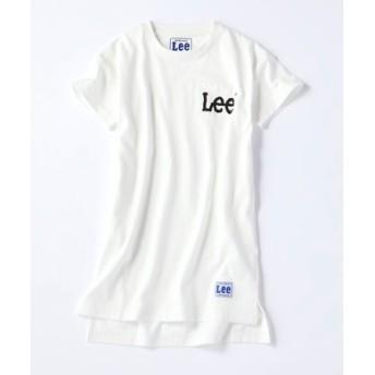 Lee 胸ポケロゴワンピース キッズ ホワイト