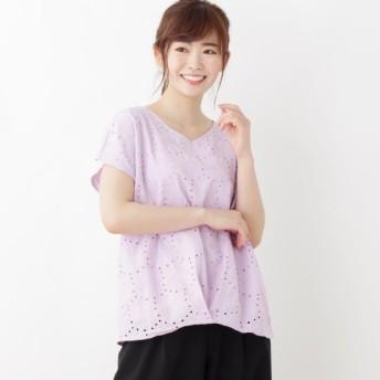 [マルイ]【セール】<UV加工付き!>ひまわりレース プルオーバー/ピンクアドベ(pink adobe)