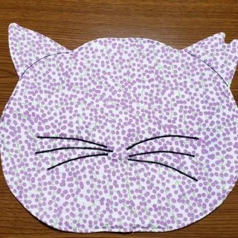 (3)『里親募集』 地域猫シリーズ 地域ネコランチョンマット 1枚 桜耳 紫系