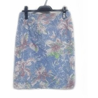 ダイアグラム Diagram GRACE CONTINENTAL スカート サイズ38 M レディース ブルー×マルチ 刺繍【中古】