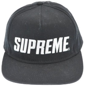 SUPREME(シュプリーム)16SS Bar Logo 5-Panel Cap ロゴ5パネルキャップ ブラック