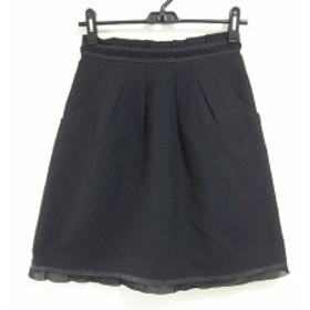 アプワイザーリッシェ Apuweiser-riche スカート サイズ2 M レディース 黒 ツイード/フリル/ラメ【中古】