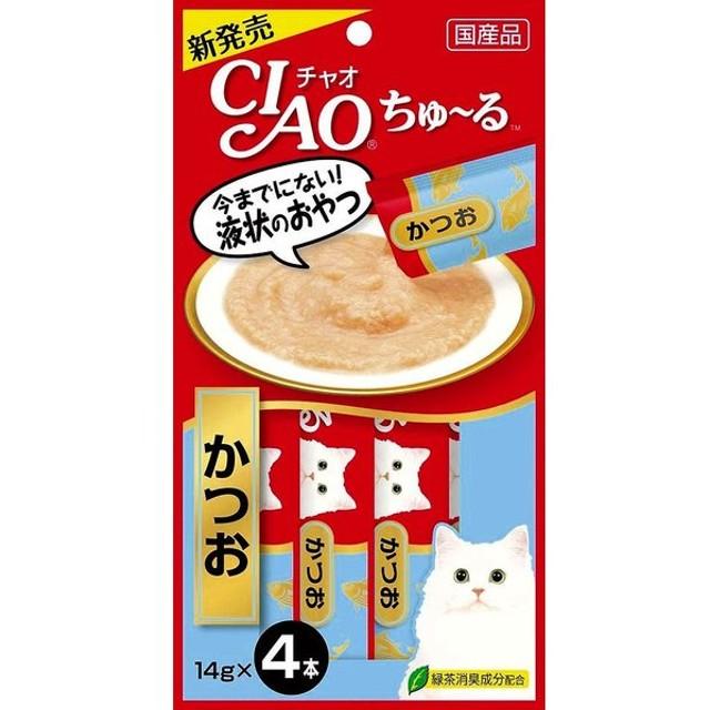 いなば チャオ ちゅ〜る かつお 14g×4本 CIAO ちゅーる 猫 おやつ|4901133716584(tc)
