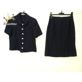 ルネ Rene スカートスーツ サイズ13 L レディース ネイビー 半袖/TISSUE   スペシャル特価 20190801
