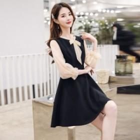 新しい夏の春のドレス韓國のファッションスリムスリム女性の気質の女性の基本ワードスカート