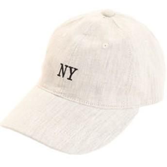 【Super Sports XEBIO & mall店:帽子】リネン刺繍キャップ NY 897PA9ST1697 NTL