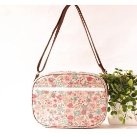 幼稚園バッグ ショルダーバッグ ラミネート かわい花柄 YUWA生成り地 ばら 薔薇 ピンク 入園入学 通園バッグ